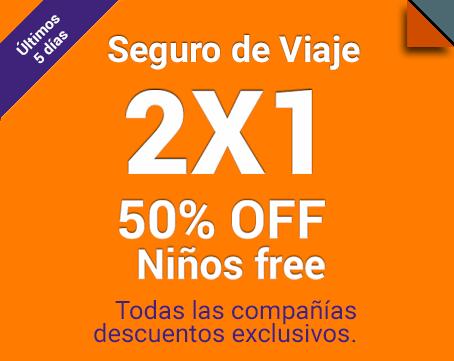 2x1- 50% OFF Niños free hasta 12 cuotas