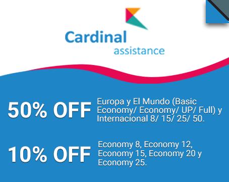descuentos en seguros de viaje de cardinal assistance