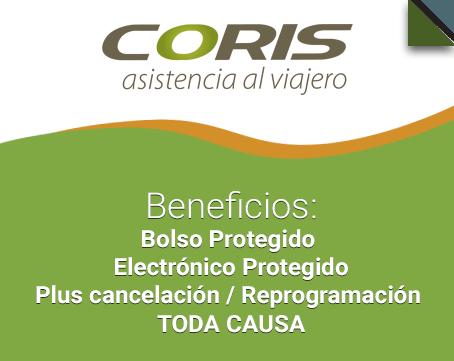 ¡Compra un seguro de viaje de Coris April Assistance y recibe todos sus beneficios!